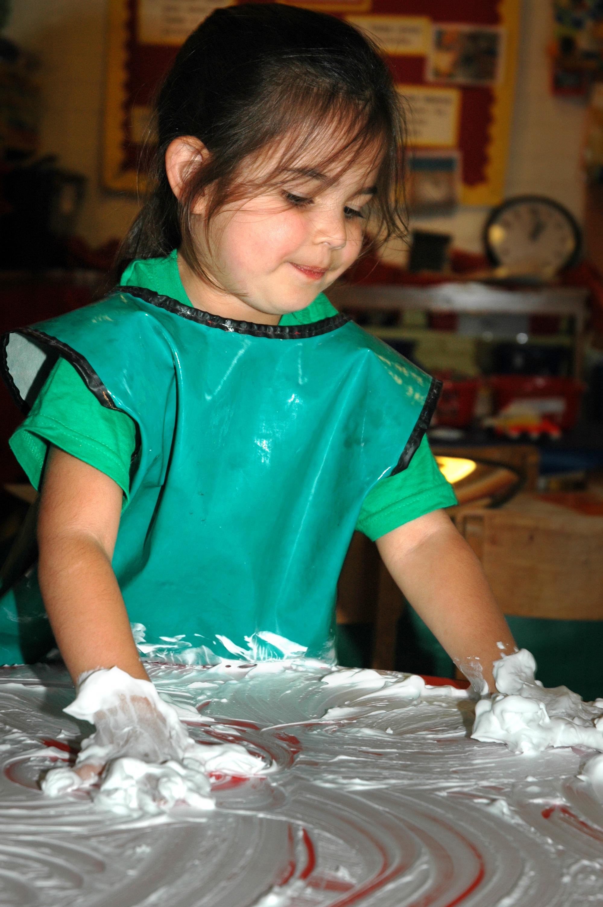 Mark making in foam