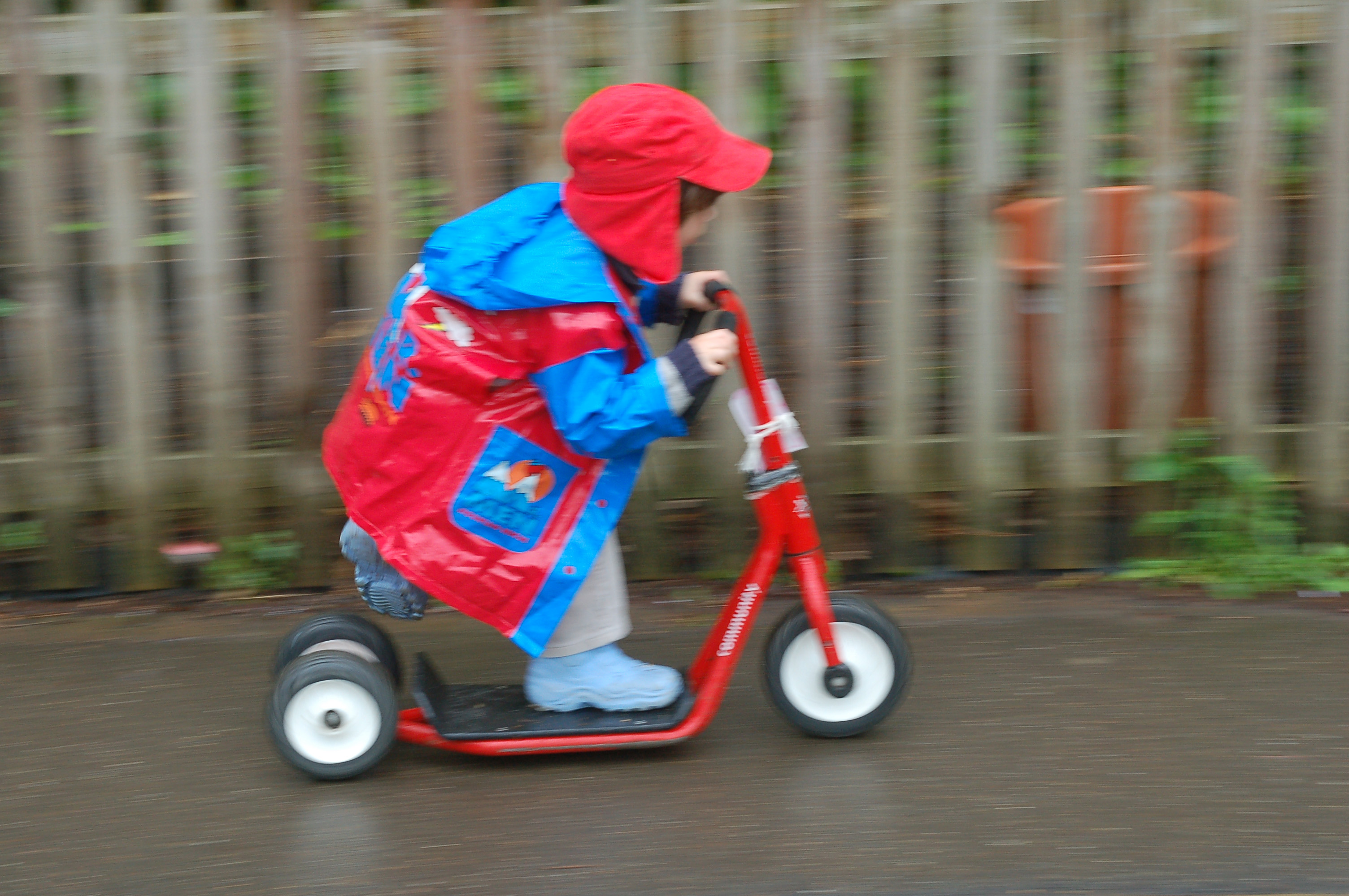 Scooting fast!