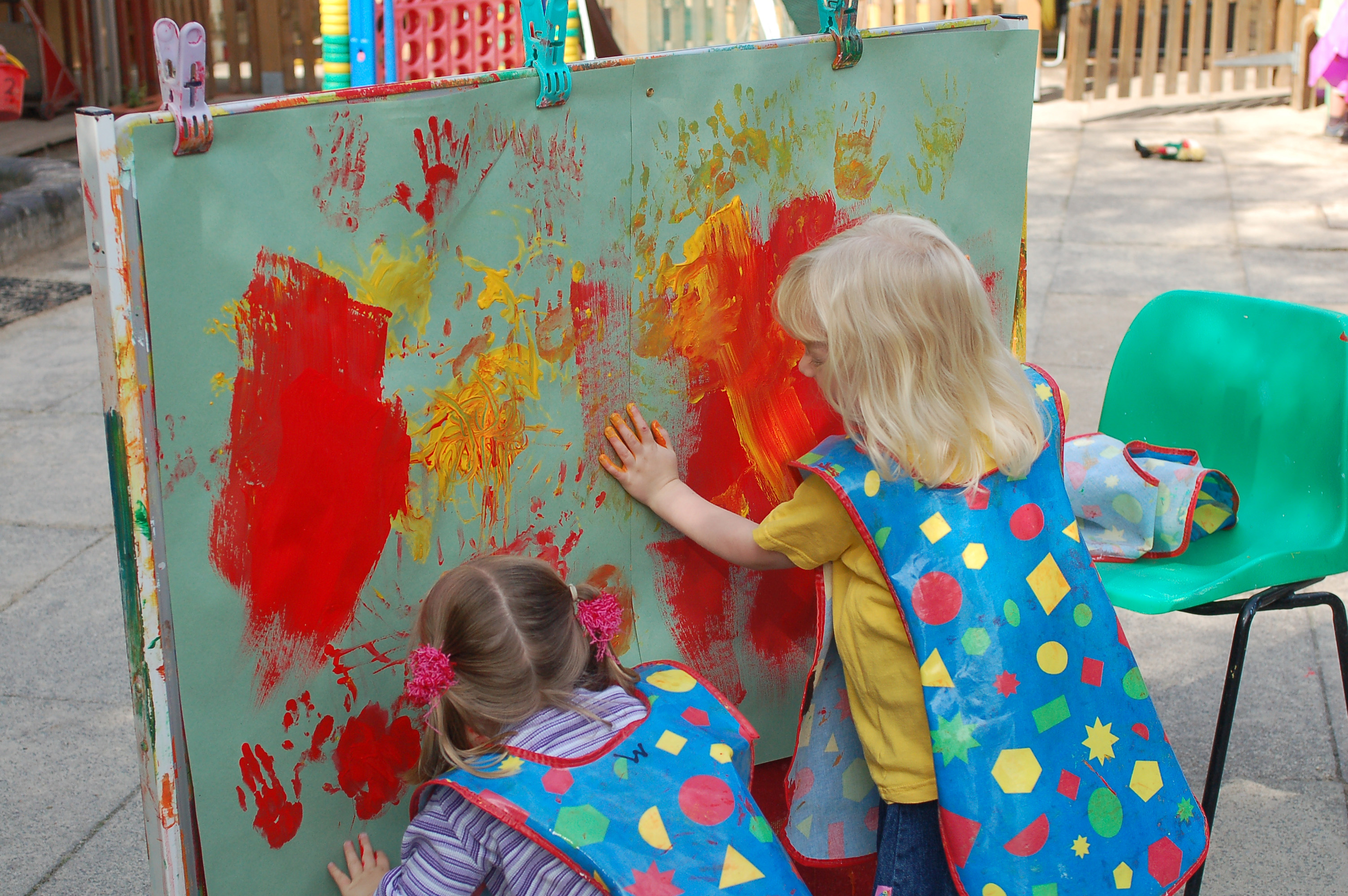 Painting with our hands