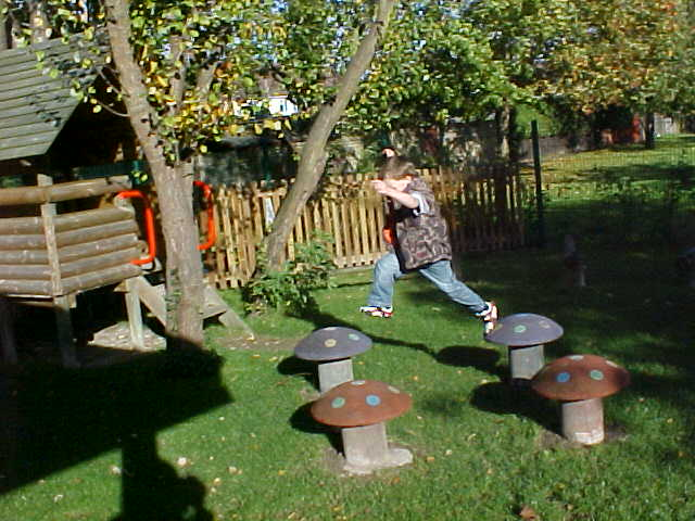 Children take great leaps in their play!